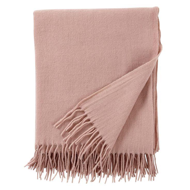 Gobi Ullpläd 130x180cm, Pale Pink, Klippan Yllefabrik
