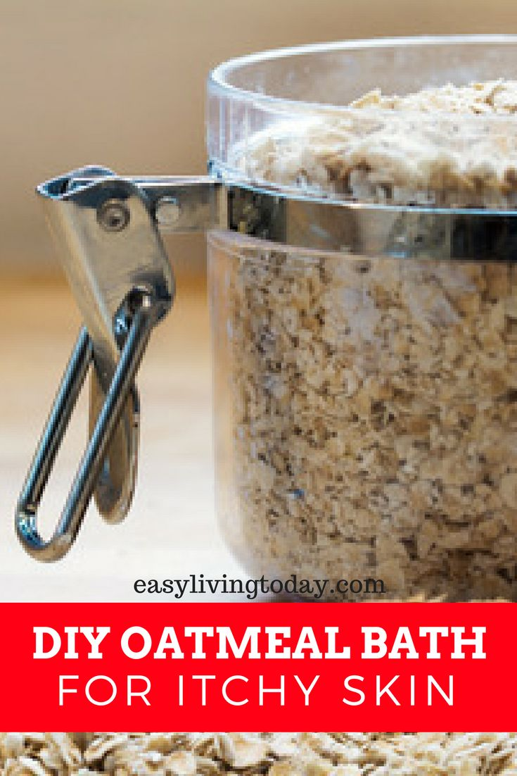 Are you at a loss when it comes to dealing with itchy or irritated, dry skin? Then a DIY oatmeal bath is the simplest and best home remedy for you!  via @easylivingtoday