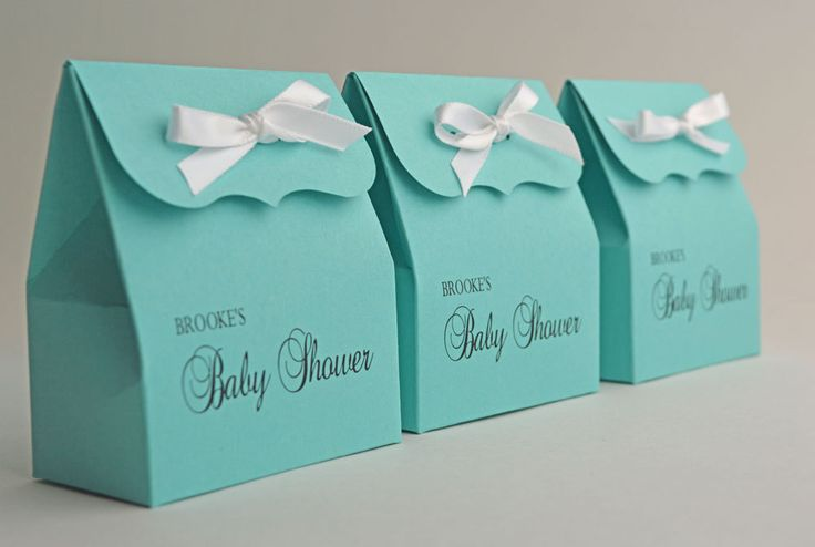 personalized blue favor bags with ribbon baby shower baby shower