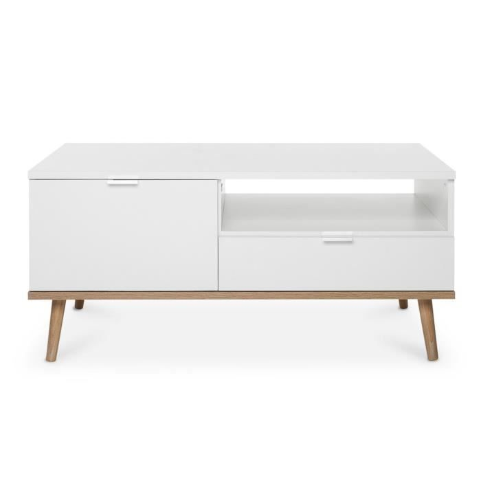 Cdiscount Com Table Basse Scandinave Table Basse Table Basse Blanc