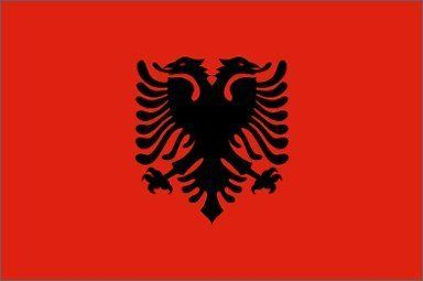 FlagsImp Albania Flag, 3 x 5-Feet:   This 3x5 foot Albania flag is made from light-weight polyester fabric with a heavy-duty bright white canvas heading. This flag has two brass grommets in the header to use when securing it to the rope of an outdoor flagpole using flag snaps. Imported