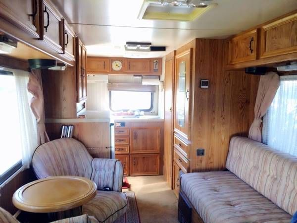 Interior Of 1987 Dolphin Rear Entry Home Rv Remodel