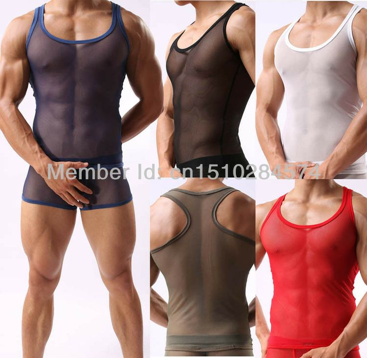 Most Popular Through softer mesh vest Sexy Men's Underwear most fashion Men's Tank Tops Special Offer. Limited Time Discount .Shopping Now