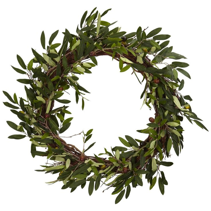 Nearly Natural 20 in. Olive Wreath | from hayneedle.com