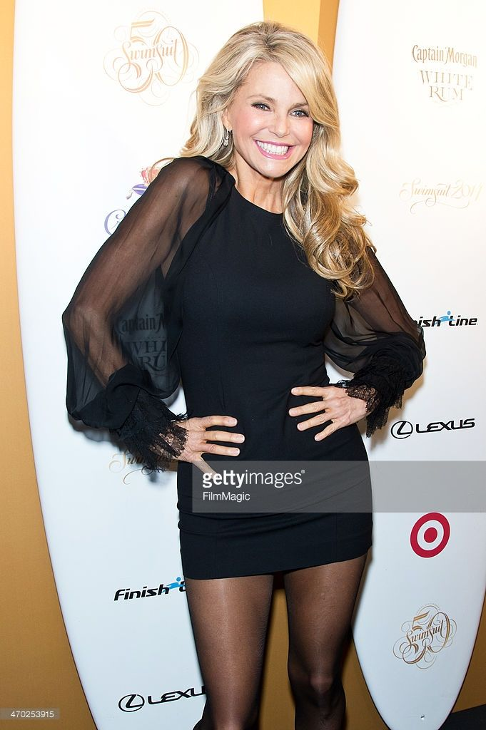 Model Christie Brinkley attends Sports Illustrated Swimsuit 50th Anniversary Party at Swimsuit Beach House on February 18, 2014 in New York City.