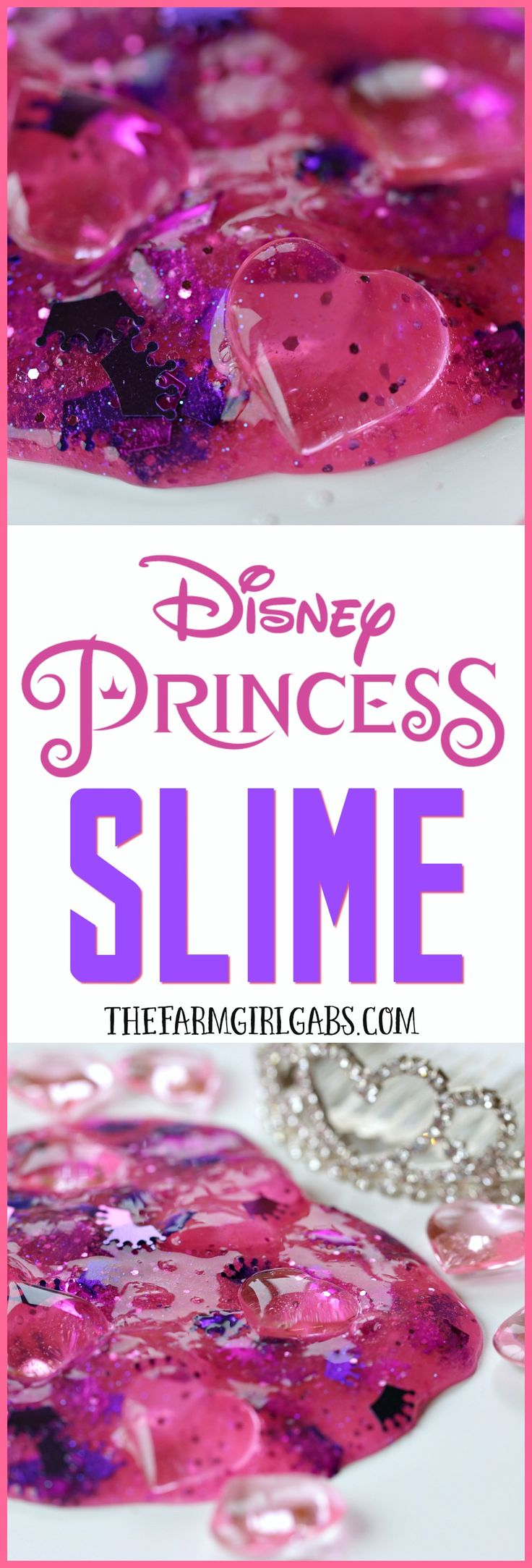 Ready for some ooey, gooey, princess fun? This Disney Princess Slime recipe is the perfect DIY boredom-buster craft for your Disney Princess.