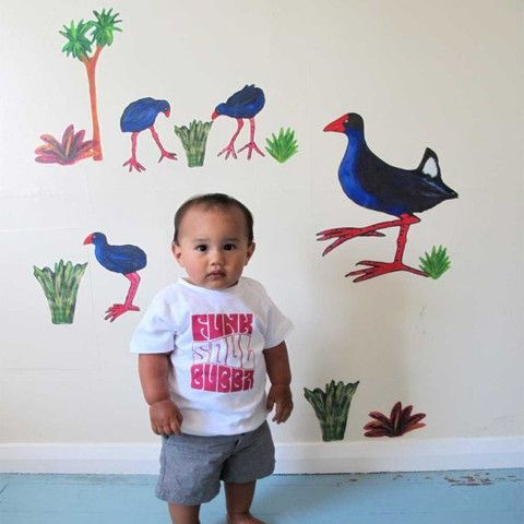 """""""Pooky Pukeko"""" decal & other Antipodean Love"""