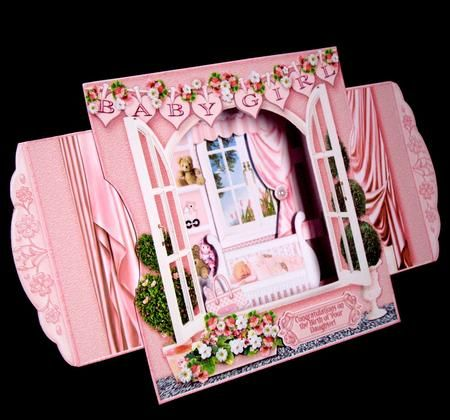 Card Gallery - 3d Room with a View - Sweet Dreams New Baby Girl