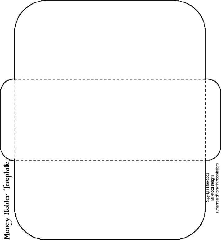 money holder template - Just decorate it for Christmas & teenagers will love you!   P.S.   Add money $$$$