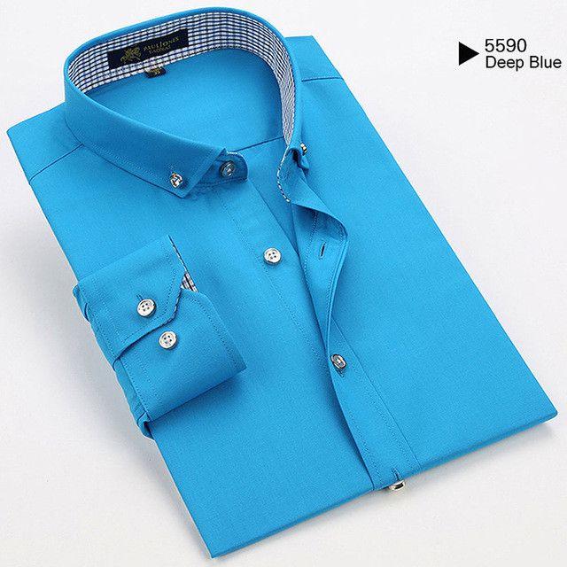 Fall Casual Hawaiian Shirts Men Cotton Checks Designer Fit Man Shirts Long Sleeve White Shirts For Men Clothes Spring