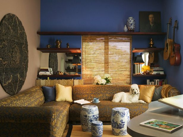 10 Ways To Incorporate Blue Into Your Design. Asian Living RoomsLiving Room  ...
