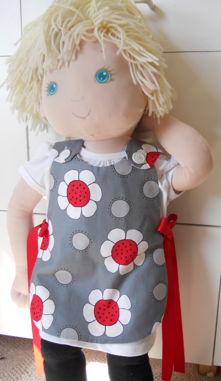 ladybug tieside smock by SewCuteDesigns2012 on Etsy
