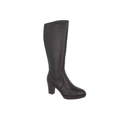 TAMARIS 1-25524-27 - Γυναικείες Μπότες Δερμάτινες μαυρο χρώμα