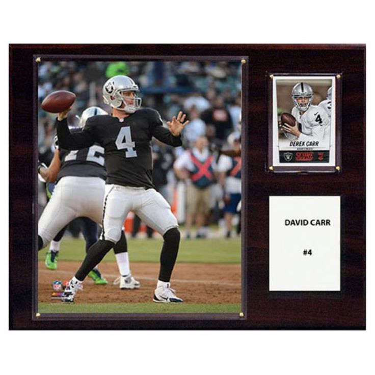 C and I Collectables NFL 15W x 12H in. David Carr Oakland Raiders Player Plaque - 1215DCARR
