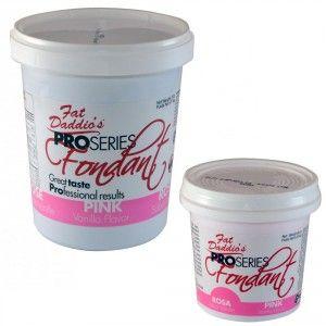 Fat Daddios Rolled Fondant - Pink - Vanilla - 8 oz Golda's Kitchen