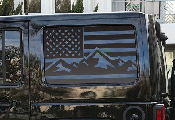 American Flag Decals For Jku Jeep Wrangler Hardtop Side Windows