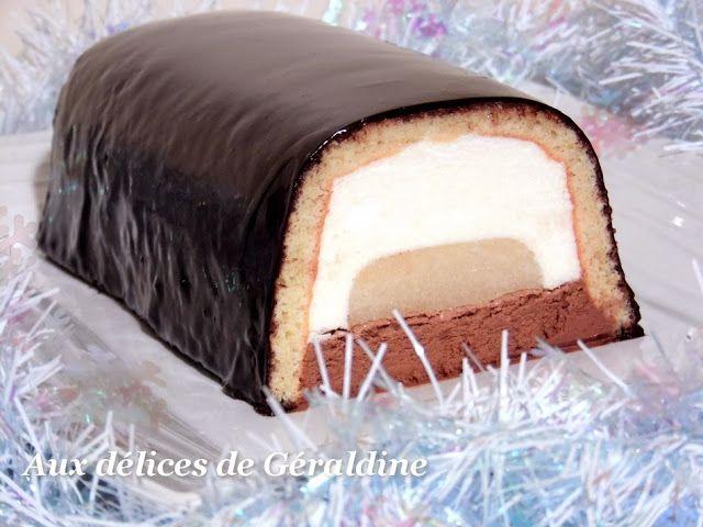 Aux délices de Géraldine: Bûche bavaroise poire & chocolat
