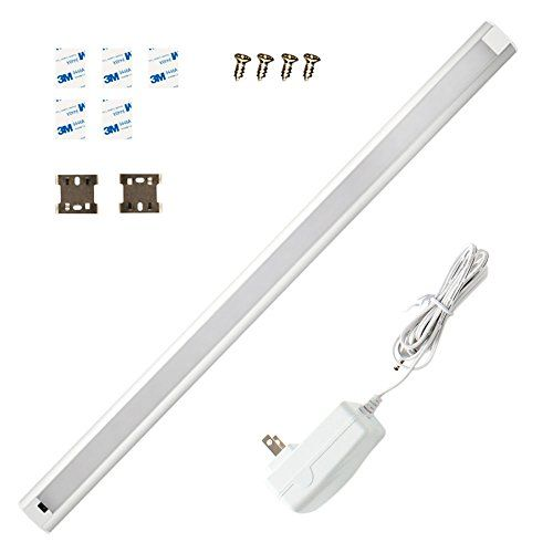 LED Under Cabinet Lighting Dimmable, Hand Wave Activated Under Counter Lighting Plug in for Kitchen 9W, 24 Inch Panel, Daylight White 4000K. HAND WAVE ACTIVATED - a basic hand wave kill ON/the LED under cupboard light through a sensitive IR sensor, extremely brilliant plan empower you to turn on/off lights with wet, best offer