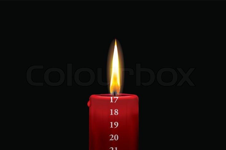 Rødt kalenderlys - 17. december | Vektor | Colourbox on Colourbox
