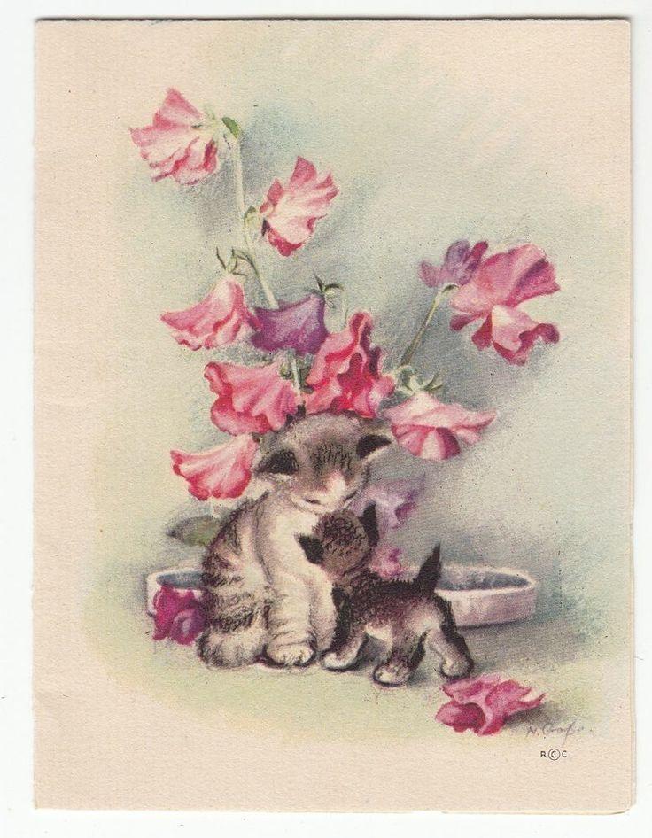 50 best kara 39 s rainbow kitten birthday images on pinterest for Vintage geburtskarten