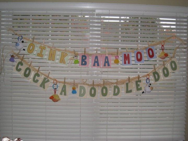 Farm themed baby shower