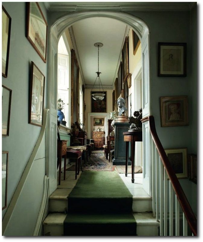 Upstairs hall, untouched since 1964 in leading British architect Sir Albert Richardson's (1880-1964) perfect country home in Bedfordshire, England.