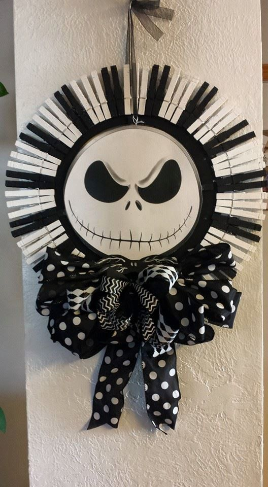 nightmare before christmas jack skellington by vickswreathsnthings - Nightmare Before Christmas Halloween Decorations For Sale