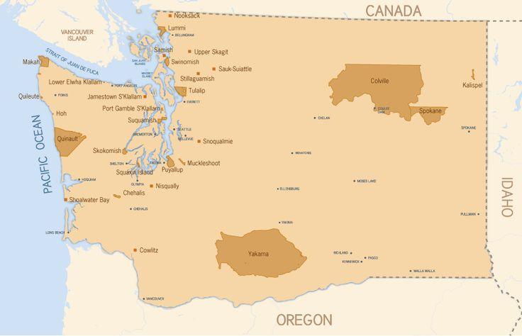 Map of Washington's Tribes