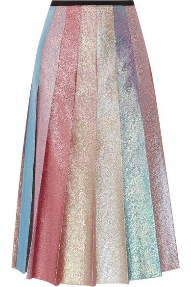 0d3b7c077b Gucci   Pleated lamé midi skirt   NET-A-PORTER.COM   walk walk ...