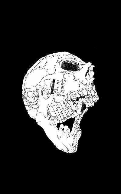 White Skull in the Dark...