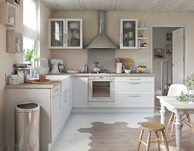best 25 cuisine blanche et bois ideas on pinterest appartement cuisine d coration meubles de. Black Bedroom Furniture Sets. Home Design Ideas