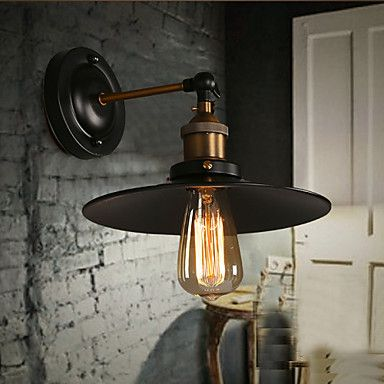 E27 220V 26*15*12CM 5-10㎡ Creative Nordic Light Single Head Black Umbrella Wall Lamp Restoring Ancient Ways Light LED 4524738 2016 – £34.01