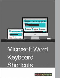 """""""Over 50 Great Microsoft Word Keyboard Shortcuts"""" With this cheatsheet you will receive daily updates in your email for free, courtesy of Make Tech Easier. Some of us are mouse-oriented, right-click people, and some of us are really good with a keyboard. We've compiled over  fifty of the best Microsoft Word keyboard shortcuts for the Office version 2013."""