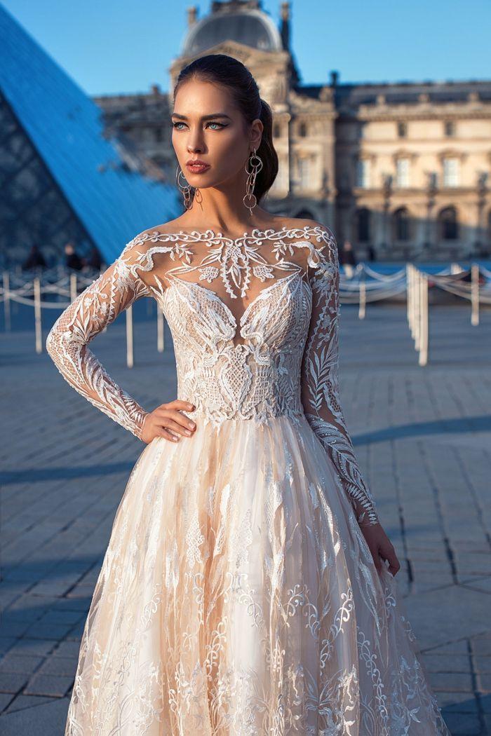 ▷ 1001 + ideas encantadoras de vestidos de novia con encaje | ropa