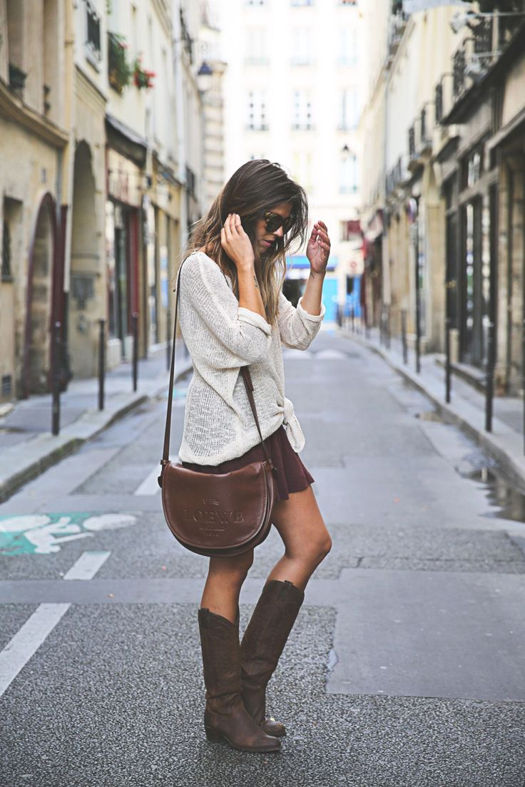 justthedesign:   Natalia Cabezas rocks the knee... Fashion Tumblr | Street Wear, & Outfits