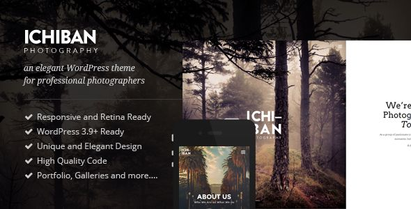 Ichiban - A Theme for Photographers - Photography Creative Simple & Modern