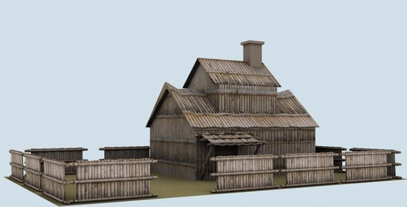 Low Poly Bamboo House Model 3d Model Of A Building 3d