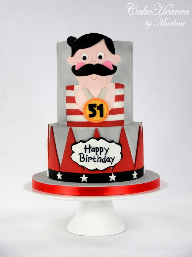 Strongest Man on Earth Birthday Cake by CakeHeaven by Marlene