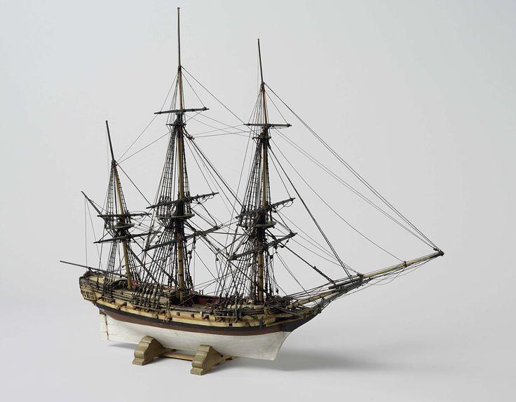 Model van een fregat van 22 stukken, anoniem, 1793 - 1807