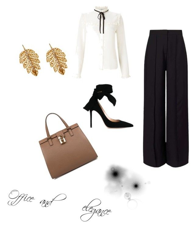"""""""Office and elegance"""" by dalia-valle ❤ liked on Polyvore featuring Miss Selfridge, Gianvito Rossi, Lipsy, Dolce&Gabbana and Marika"""