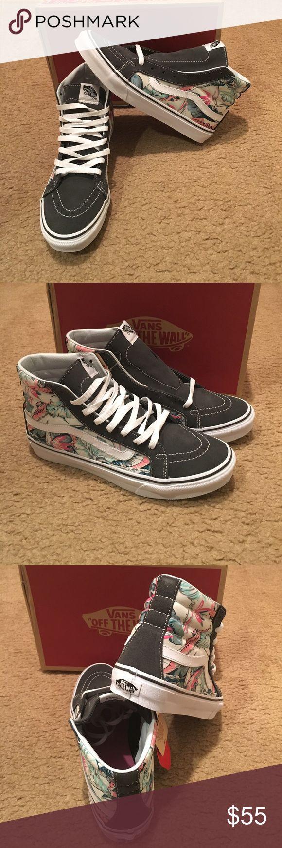 Tropical SK8Hi Slim Vans New in box. Multi/true white Vans Shoes Sneakers