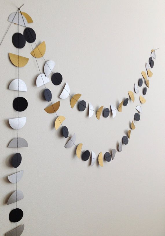 Art Deco Bunting paper garland party decoration by GrayDayStudio