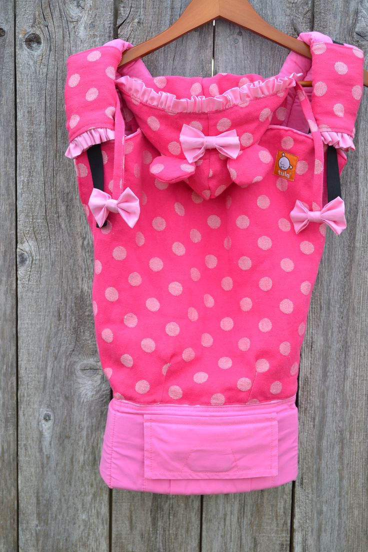 Customized Toddler Tula with Pink dot wrap! I loooove!!