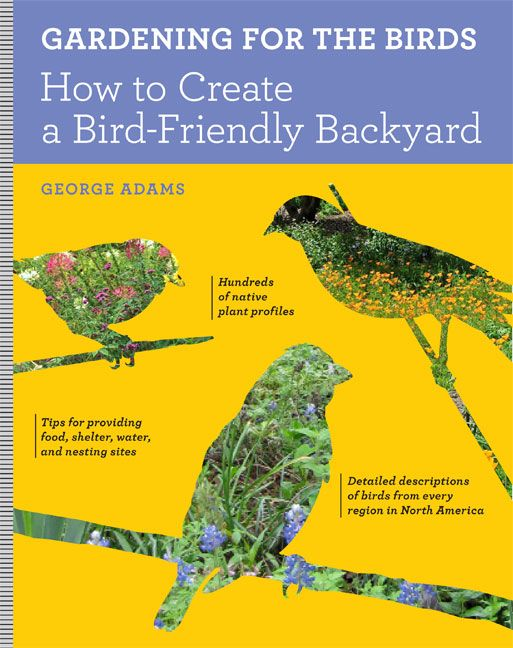 """Gardening for the Birds: How to Create a Bird-Friendly Backyard"" by George Adams. Great information on native plants and the birds that love them."