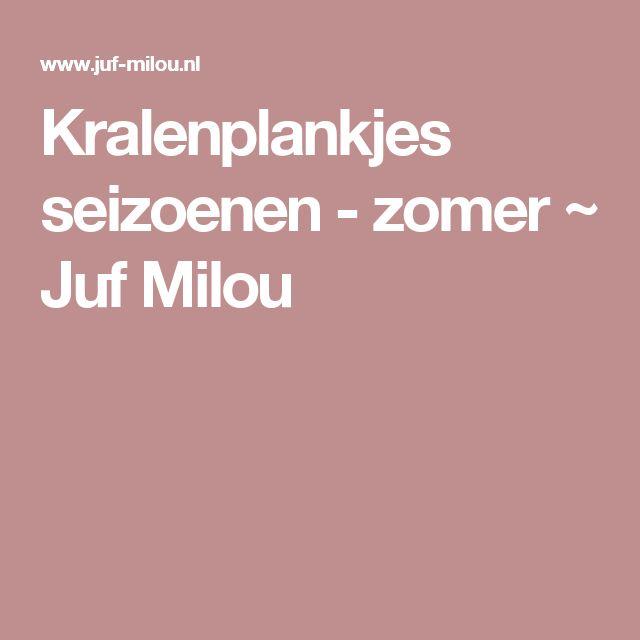 Kralenplankjes seizoenen - zomer ~ Juf Milou
