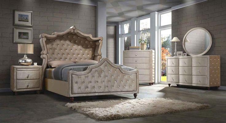 Meridian Furniture - Diamond 3 Piece Eastern King Bedroom Set - Diamond-Canopy-EK-3SET