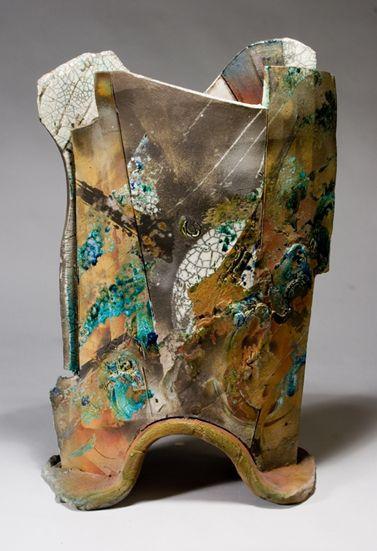 Jim Romberg | Canyon Moon, 2005. Raku-fired ceramicClay Vessel, Canyon Moon, Pottery Raku, Jim Romberg, Porcelain Pottery Polymer, Moon 2005, Raku Canyon, Pottery Ceramics, Potery Teapots