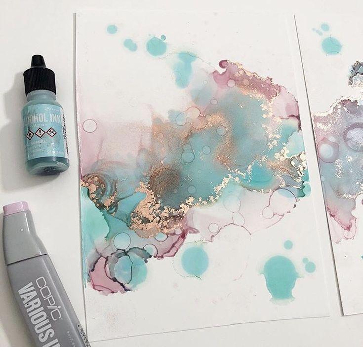 @ hannahsinkart teilt ihre Tipps zur Arbeit mit Alkoholtinten!  #alkoholtinten #arbeit #hannahsinkart #paintingartideas