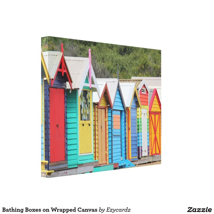 Bathing Boxes on Wrapped Canvas Gallery Wrap Canvas