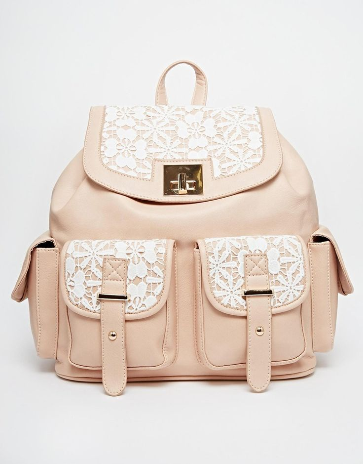 Bild 1 von New Look – Rucksack mit Häkelschlaufe und Tasche